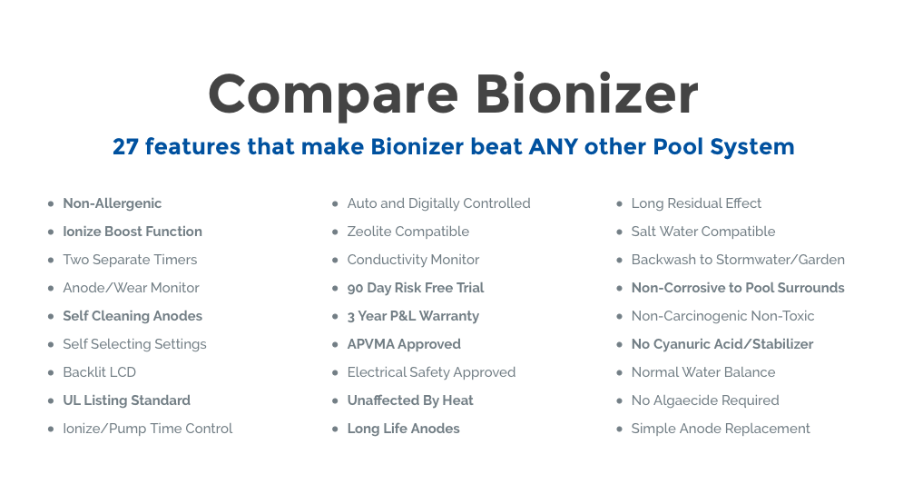 Pool World Thailand Issanswimming Pool Sanitizer Bionizer No Salt No Chlorine No Algae